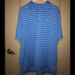 Peter Millar Blue Stripe Summer Polo
